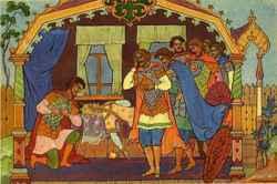 Кто в сказке о мертвой царевне помог елисею найти невесту 5 букв