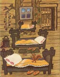 сказка три медведя читать с картинками